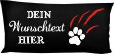 Hunde Kissen 80 x 40 cm Design 2 Pfotenkratzer und Namen