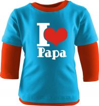 Baby und Kinder Shirt Langarm Multicolor I Love Papa
