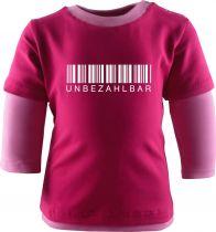 Baby und Kinder Shirt Langarm Multicolor Unbezahlbar