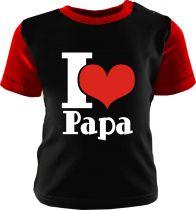 Baby und Kinder Shirt kurzarm Multicolor I love Papa