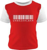 Baby und Kinder Shirt kurzarm Multicolor Unbezahlbar