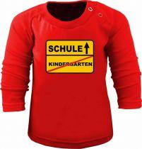 Baby und Kinder Langarm T-Shirt Schule