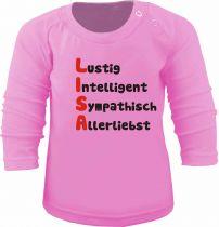 Baby und Kinder Langarm T-Shirt mit Namen und Eigenschaften