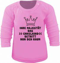 Baby und Kinder Langarm T-Shirt Ihre Majestät das Enkelkind betritt den Raum