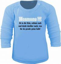Baby und Kinder Langarm T-Shirt Hormone ab in die Ecke