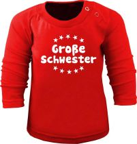 Baby und Kinder Langarm T-Shirt Große Schwester