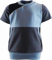Baby und Kinder Kurzarm Shirt Oslo mit Bauchtasche gestreift