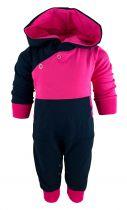Baby Kaputzen Langarm Overall Kairo mit Bauchtasche gestreift