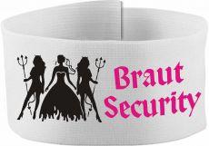 größenverstellbare Klett-Armbinde 10 cm Höhe mit Braut Security