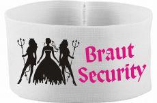 gummielastische Armbinde 10 cm Höhe mit Braut Security