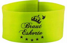 adjustable Velcro armband with Braut Eskorte / 10 cm height