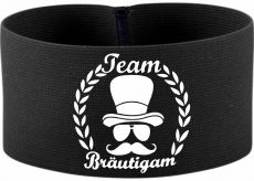 rubber elastic armband / mediaband with Team Bräutigam / 10 cm height
