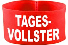 rubber elastic armband / mediaband with Tagesvollster / 10 cm height