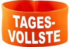 rubber elastic armband / mediaband with Tagesvollste/ 10 cm height