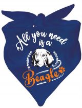Hunde Dreiecks-Halstuch All you need is a Beagle