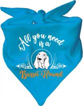 Hunde Dreiecks-Halstuch All you need is a Basset
