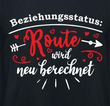 Shirt Beziehungsstatus Route wird neu berechnet