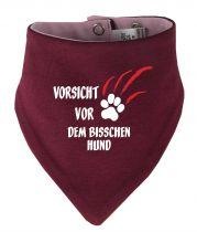 Tier Wende-Halstuch Multicolor mit Vorsicht vor dem bisschen Hund