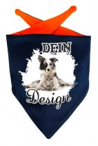 Hunde Dreiecks-Halstuch Multicolor mit eigenem Wunschmotiv