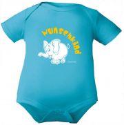 farbiger Baby Body 1/4-Arm Wunschkind (Elefant)