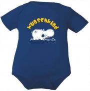 farbiger Baby Body Wunschkind (Nilpferd)