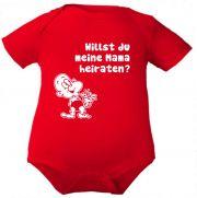 farbiger Baby Body Willst du meine Mama heiraten / COOK