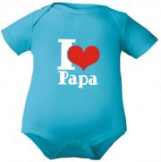 farbiger Baby Body I love Papa