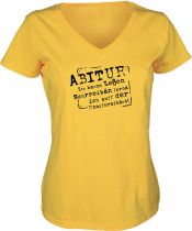 Lady V-Neck T-Shirt Abitur / NEU
