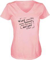 Lady V-Neck T-Shirt Wier prauchen keine Leerer / NEU