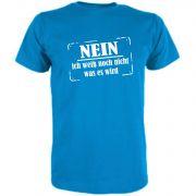 T-Shirt für Schwangere Nein ich weiß noch nicht was es wird