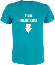 T-Shirt für Schwangere Trotz Finanzkrise