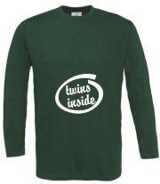 Langarm T-Shirt für Schwangere Twins inside