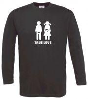 Langarm T-Shirt für Schwangere True Love