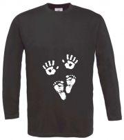 Langarm T-Shirt für Schwangere Hände und Füsse