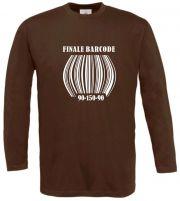 Langarm T-Shirt für Schwangere Finale Barcode