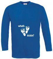 Langarm T-Shirt für Schwangere Whats kickin
