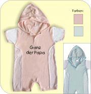 Baby Overal mit Druck Copyright by Mama und Papa