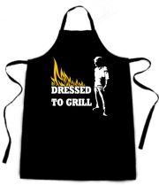Latzschürze mit Druck Dressed to Grill