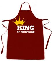 Latzschürze mit Druck King of the Kittchen