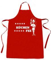 Latzschürze mit Druck Küchenfee