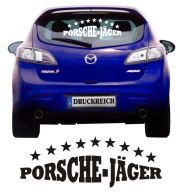 Auto Aufkleber Porschejäger