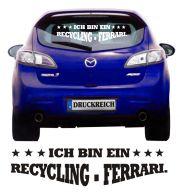 Auto Aufkleber Recycling-Ferrari