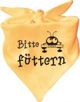 Baby Halstuch mit Druck Bitte füttern / AUNTI