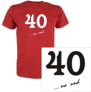 T-Shirt mit Druck 40 na und