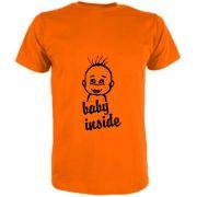 T-Shirt für Schwangere Baby Inside und Babykopf